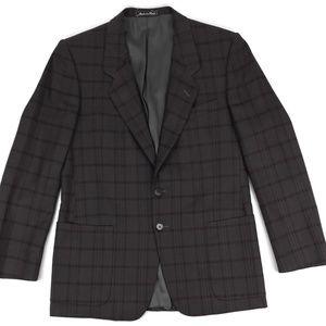 Other - Vintage Plaid Check Blazer Sport Coat Sz 40R Retro